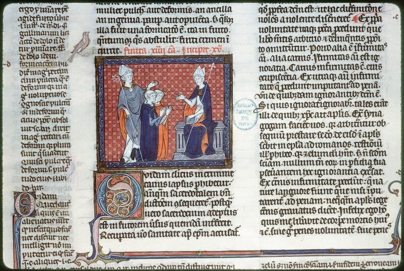 Tours, Bibl. mun., ms. 0558, f. 191v - vue 1