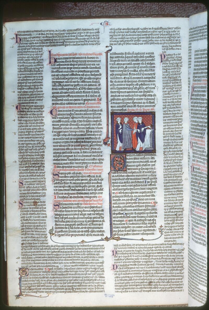 Tours, Bibl. mun., ms. 0558, f. 195v - vue 1
