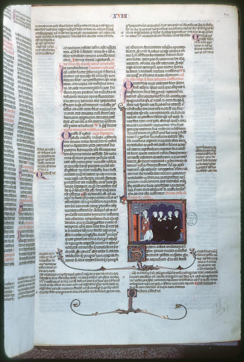 Tours, Bibl. mun., ms. 0558, f. 211 - vue 1