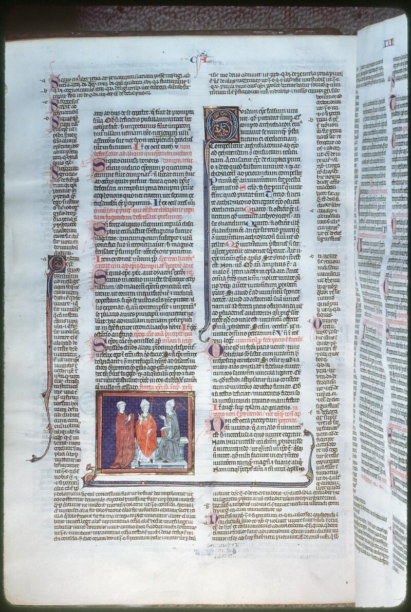 Tours, Bibl. mun., ms. 0558, f. 218v - vue 1
