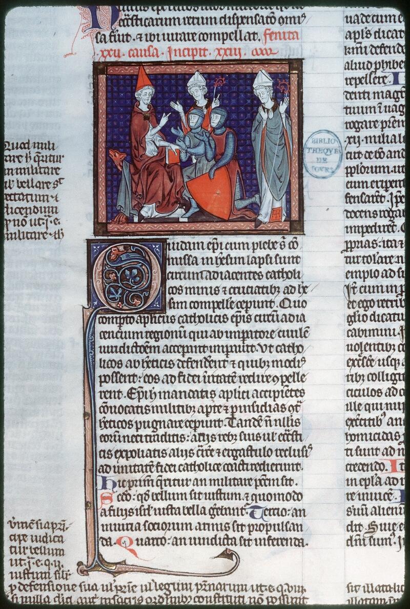 Tours, Bibl. mun., ms. 0558, f. 225v - vue 1