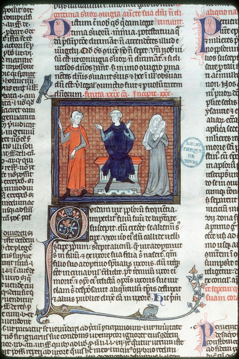 Tours, Bibl. mun., ms. 0558, f. 273v - vue 1