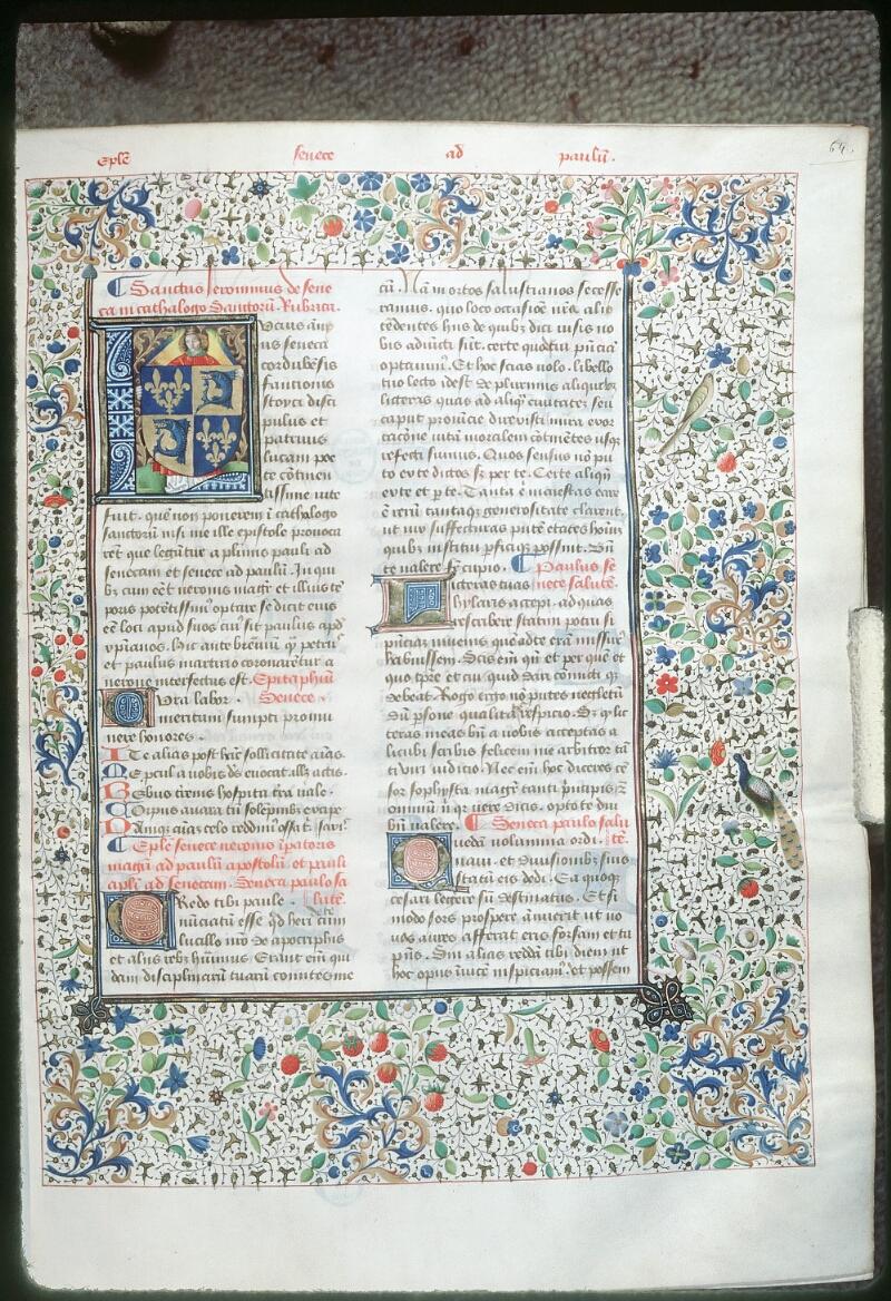 Tours, Bibl. mun., ms. 0693, f. 064 - vue 1