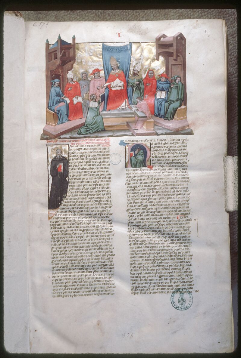 Tours, Bibl. mun., ms. 0573, f. 001 - vue 1
