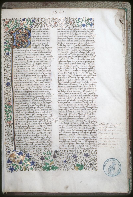 Tours, Bibl. mun., ms. 0699, f. 001 - vue 1
