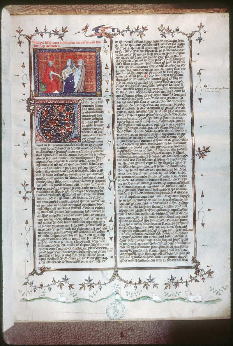 Tours, Bibl. mun., ms. 0576, f. 028 - vue 1