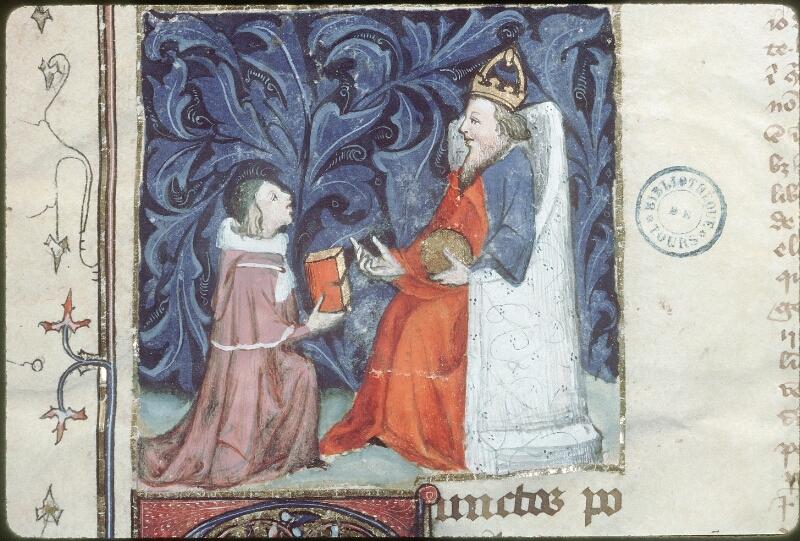 Tours, Bibl. mun., ms. 0651, f. 001 - vue 2
