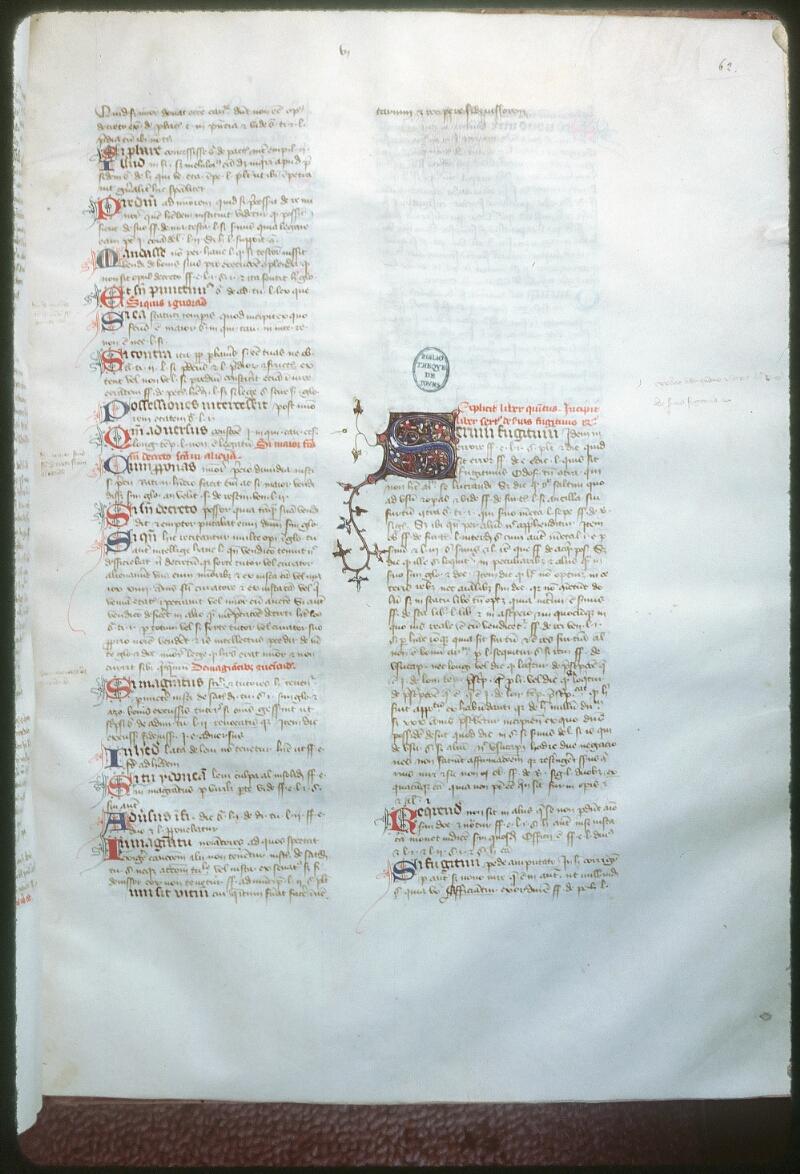 Tours, Bibl. mun., ms. 0651, f. 062