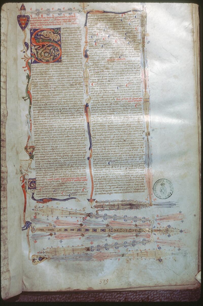Tours, Bibl. mun., ms. 0654, f. 001 - vue 1