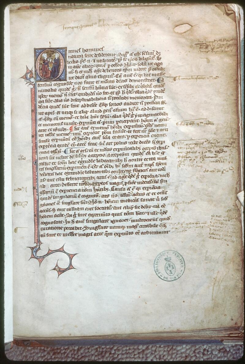 Tours, Bibl. mun., ms. 0686, f. 001 - vue 1