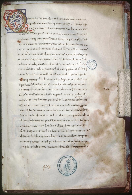 Tours, Bibl. mun., ms. 0689, f. 001
