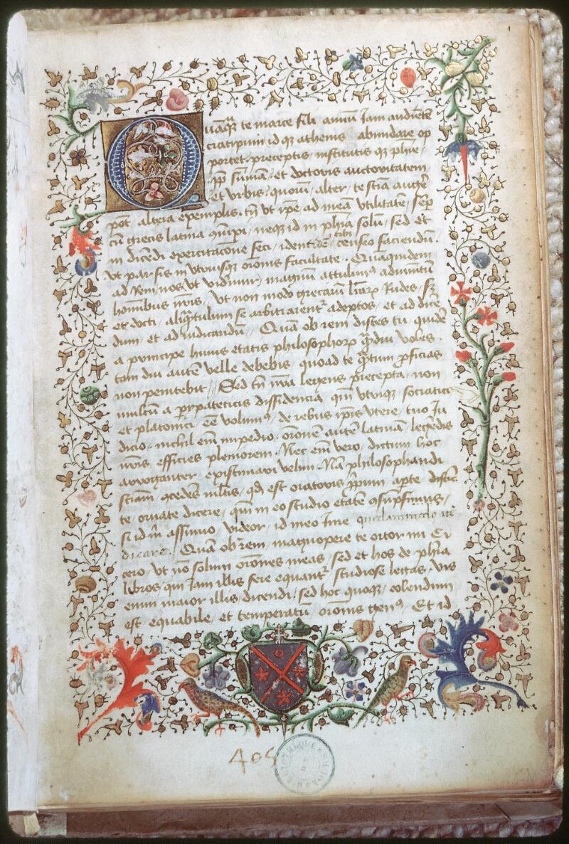 Tours, Bibl. mun., ms. 0690, f. 001 - vue 1