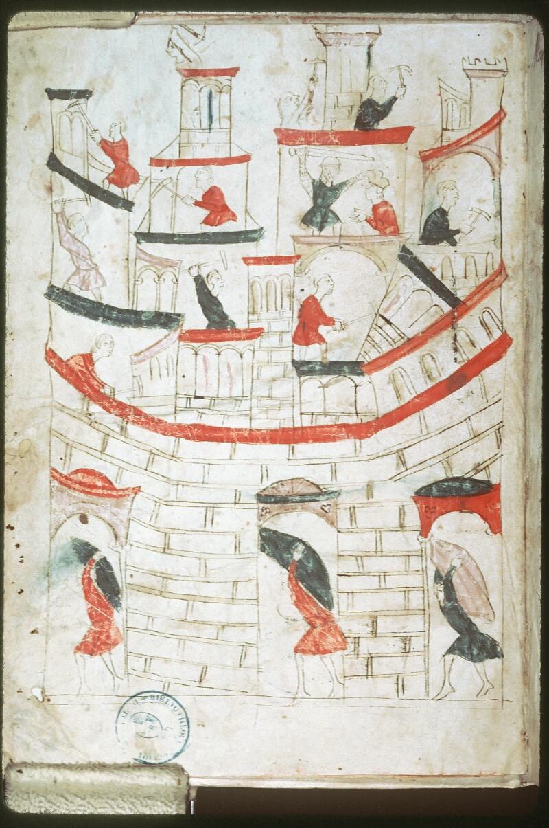 Tours, Bibl. mun., ms. 0953, f. 001v - vue 1