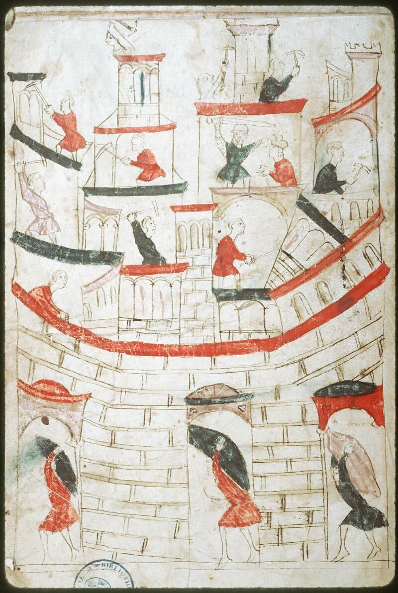Tours, Bibl. mun., ms. 0953, f. 001v - vue 2
