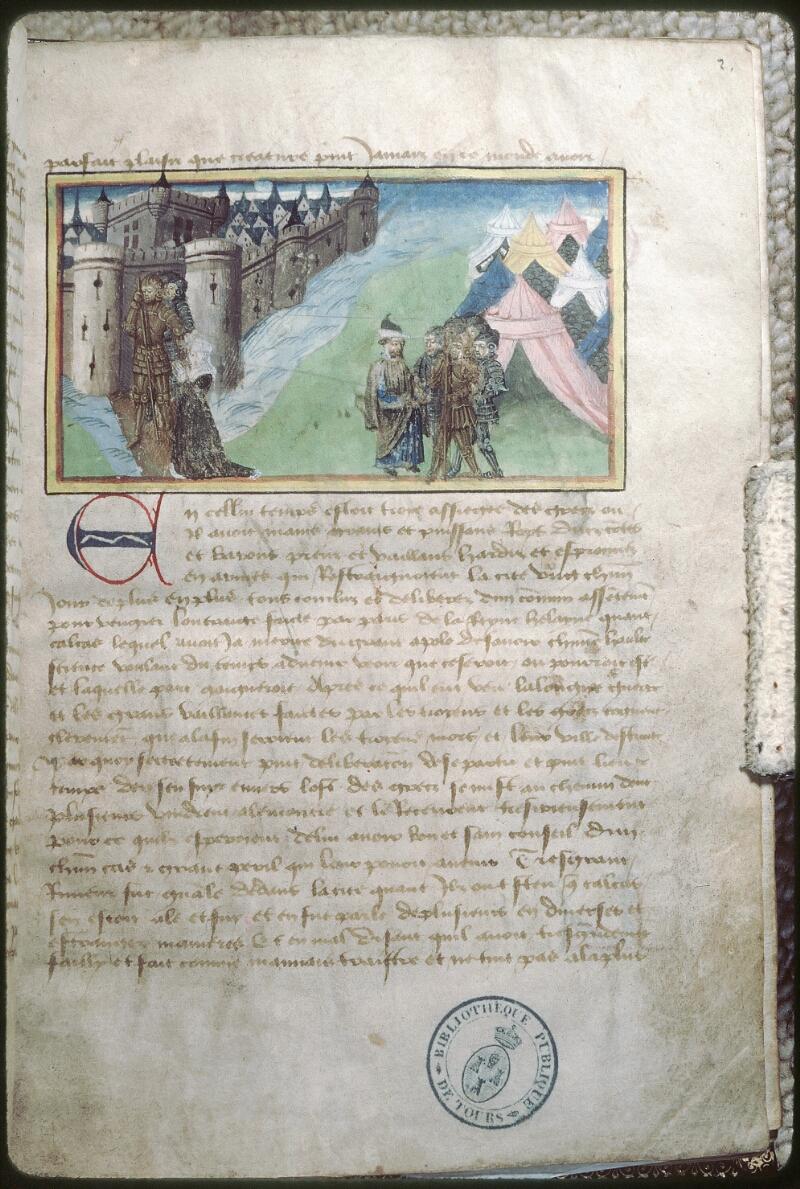 Tours, Bibl. mun., ms. 0956, f. 002 - vue 1