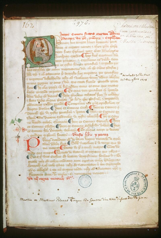 Tours, Bibl. mun., ms. 0976, f. 001 - vue 1