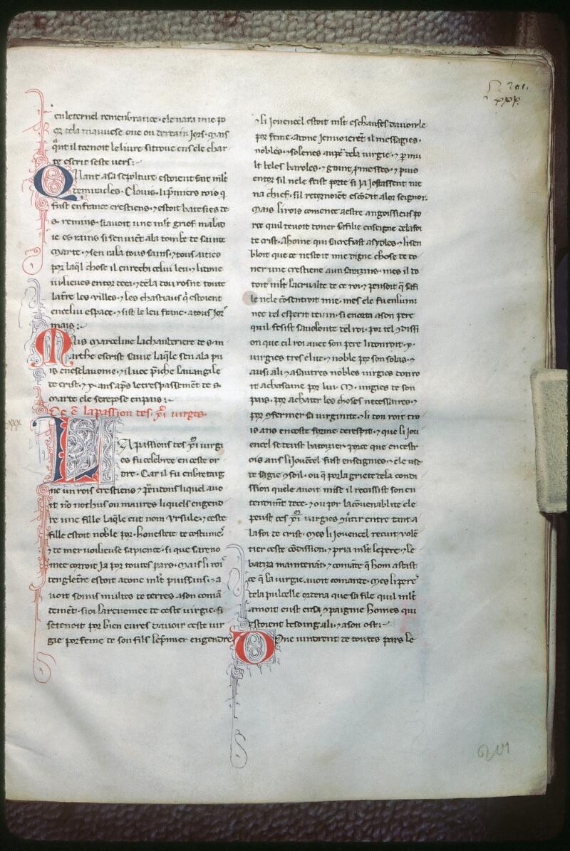 Tours, Bibl. mun., ms. 1008, f. 201