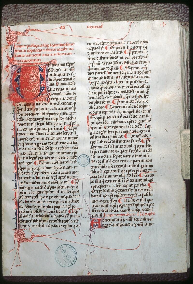 Tours, Bibl. mun., ms. 1009, f. 001