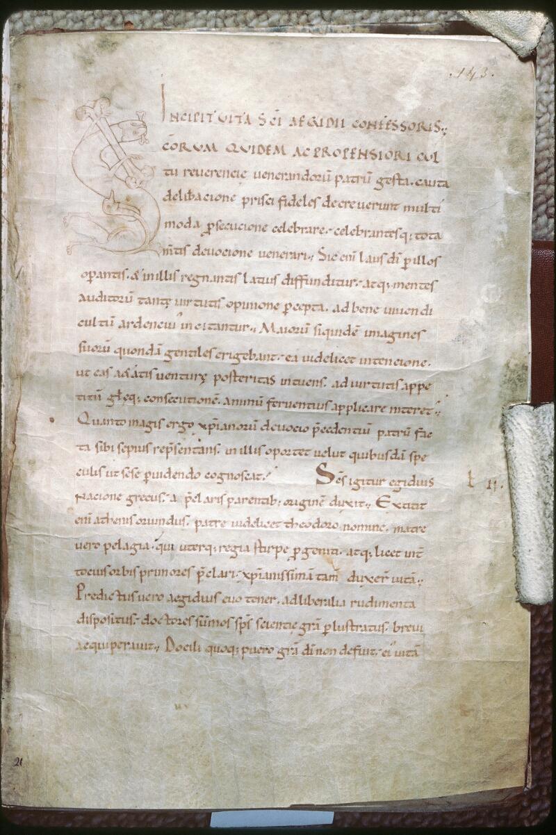 Tours, Bibl. mun., ms. 1013, f. 143 - vue 1