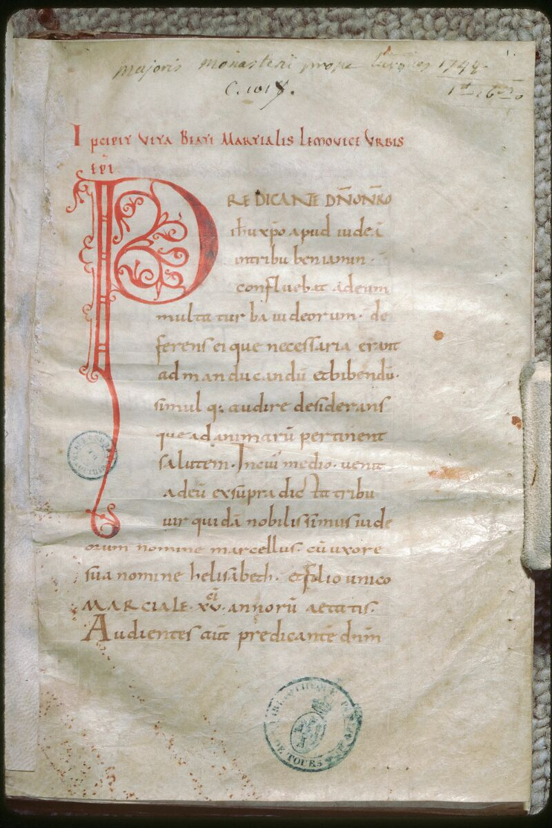 Tours, Bibl. mun., ms. 1017, f. 001