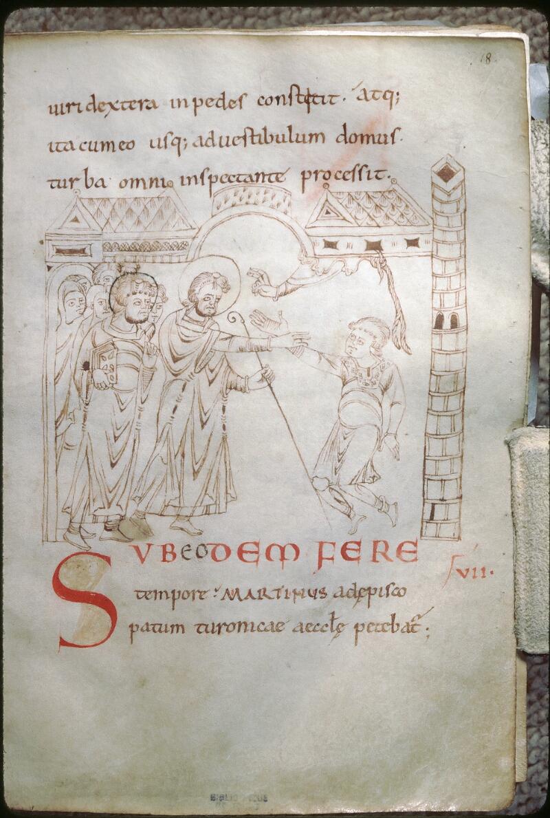 Tours, Bibl. mun., ms. 1018, f. 018 - vue 1