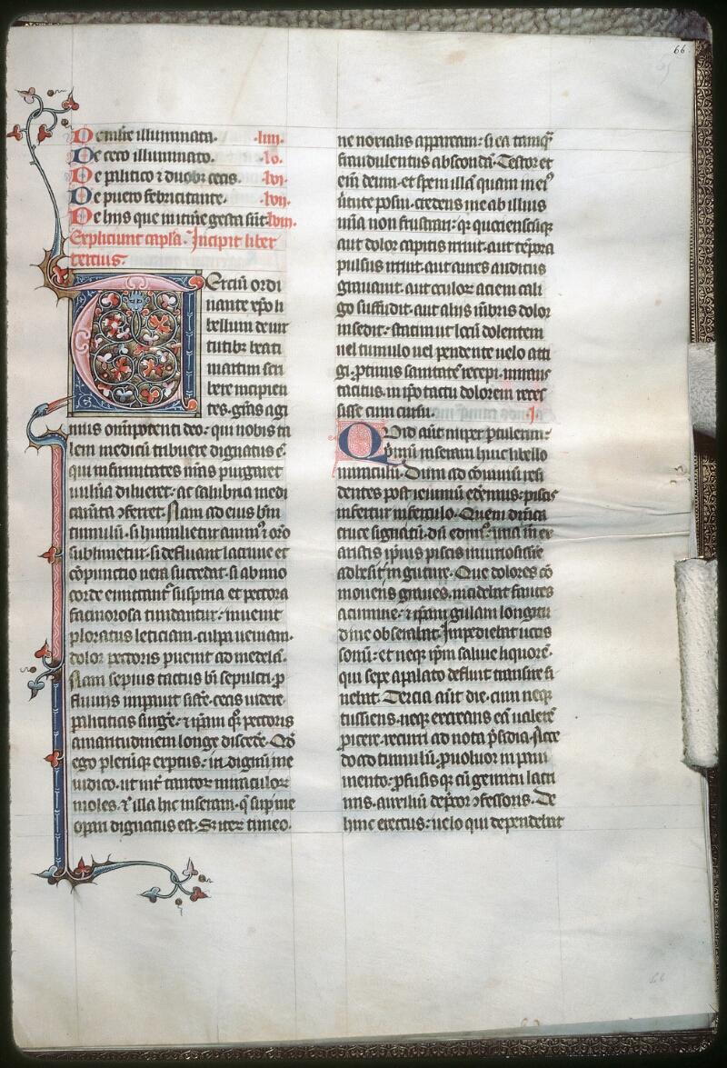 Tours, Bibl. mun., ms. 1023, f. 066 - vue 1