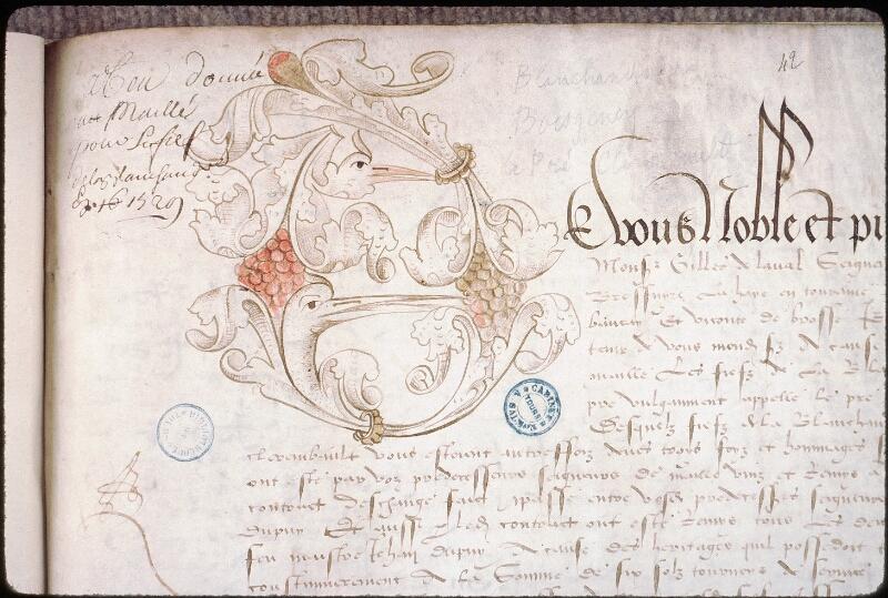Tours, Bibl. mun., ms. 1310, n° 42, f. 067 - vue 3