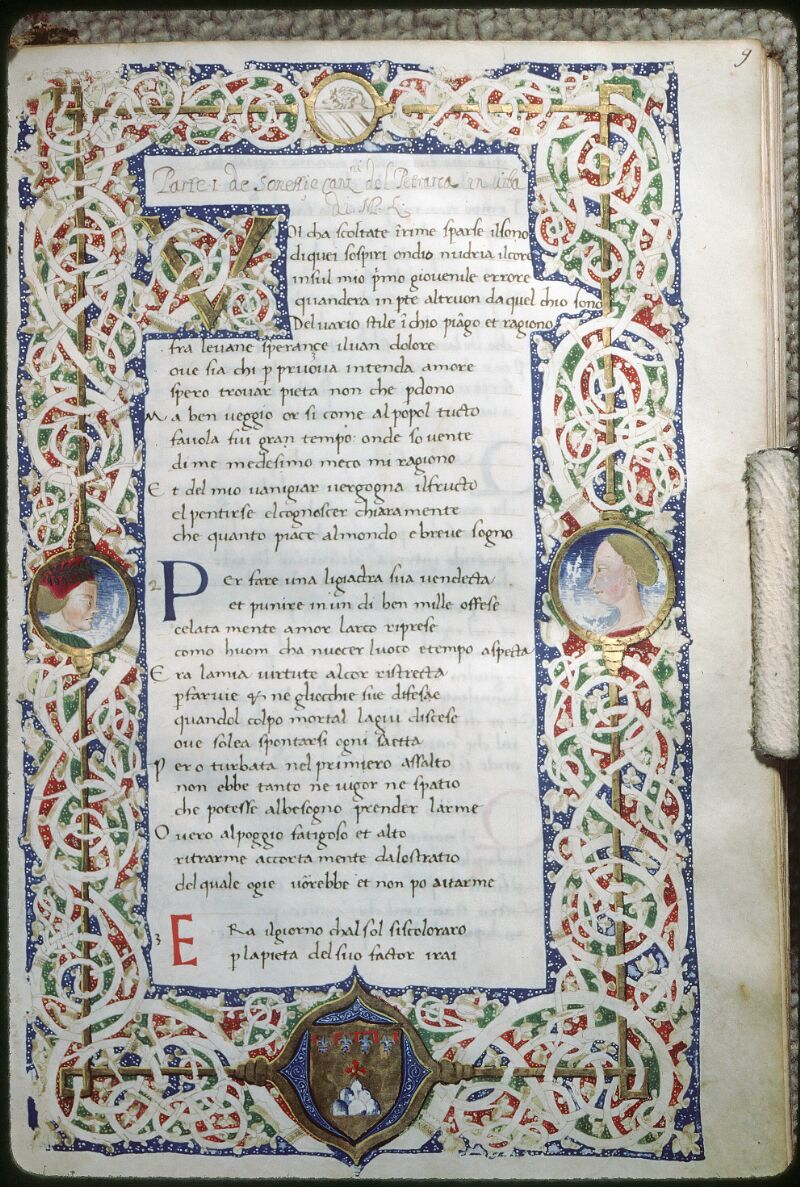 Tours, Bibl. mun., ms. 2102, f. 009 - vue 1