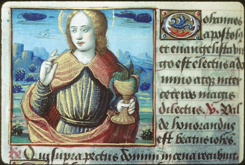 Tours, Bibl. mun., ms. 2104, f. 161v - vue 1