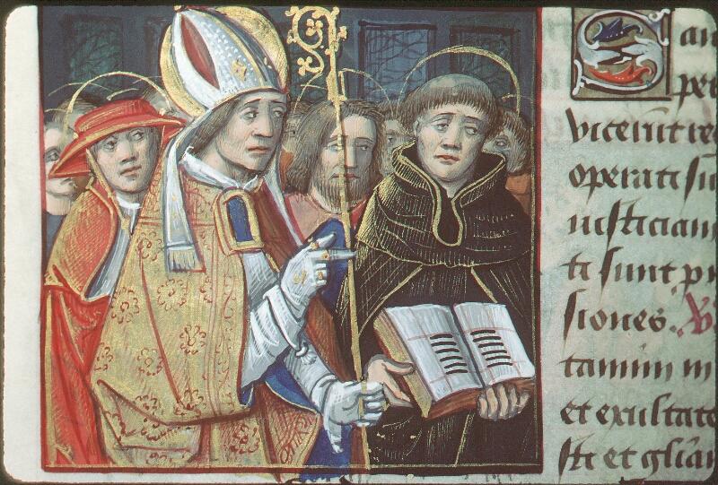 Tours, Bibl. mun., ms. 2104, f. 168v - vue 1