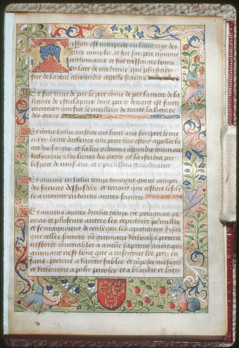 Tours, Bibl. mun., ms. 2109, f. 001 - vue 1