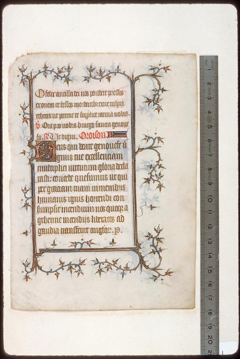 Tours, Bibl. mun., ms. 2273 B, recto - vue 1