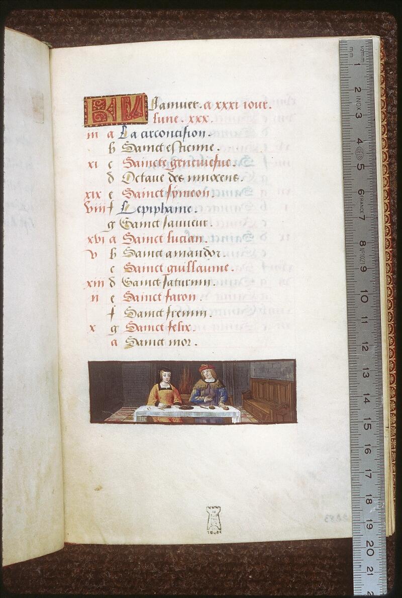 Tours, Bibl. mun., ms. 2283, f. 001 - vue 1