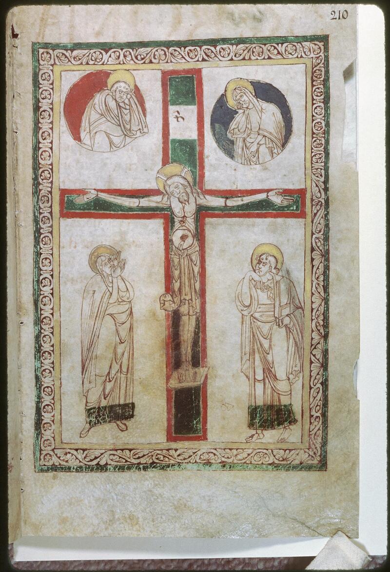 Tours, Bibl. mun., ms. Diocèse 01, f. 210 - vue 1