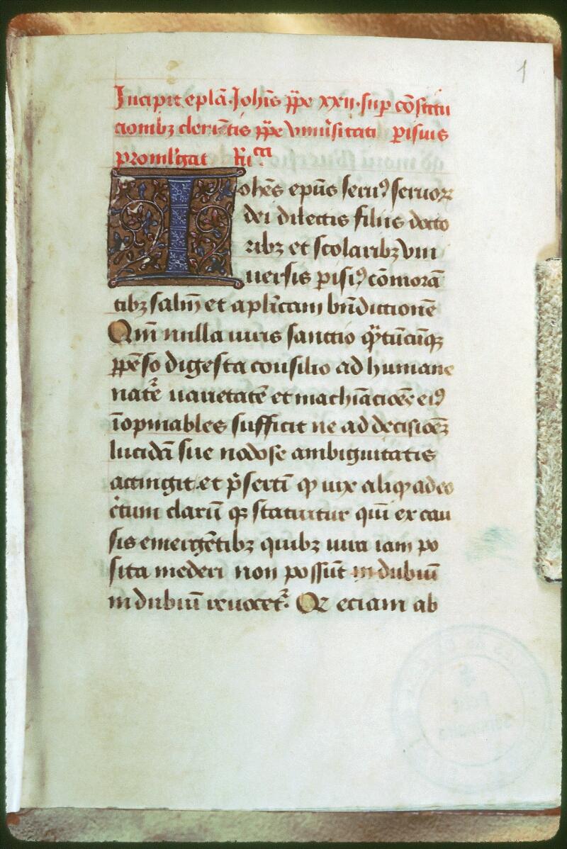 Tours, Bibl. mun., ms. Diocèse 03, f. 001