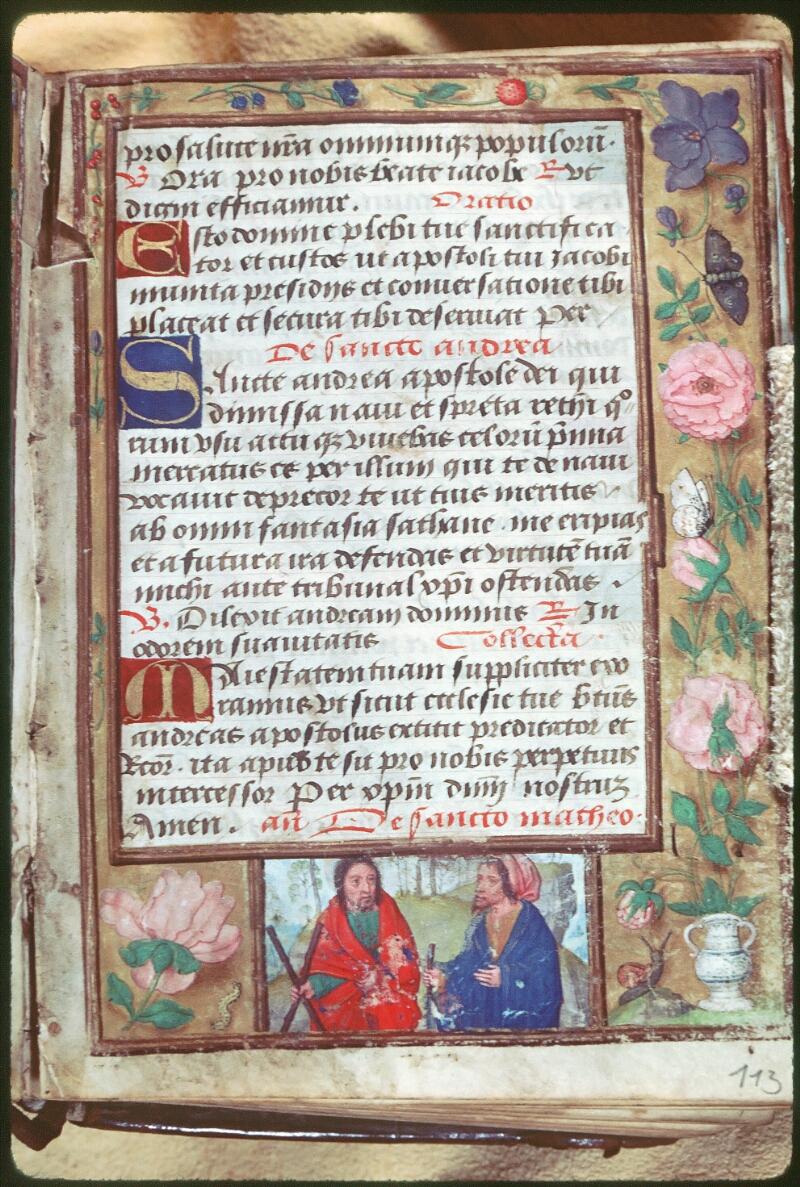Tours, Bibl. mun., ms. Diocèse 05, f. 113 - vue 1