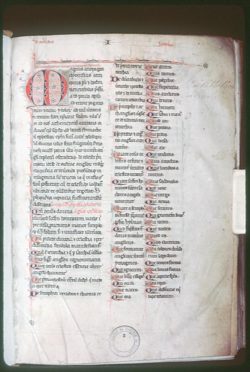 Tours, Bibl. mun., ms. Diocèse 06, f. 001