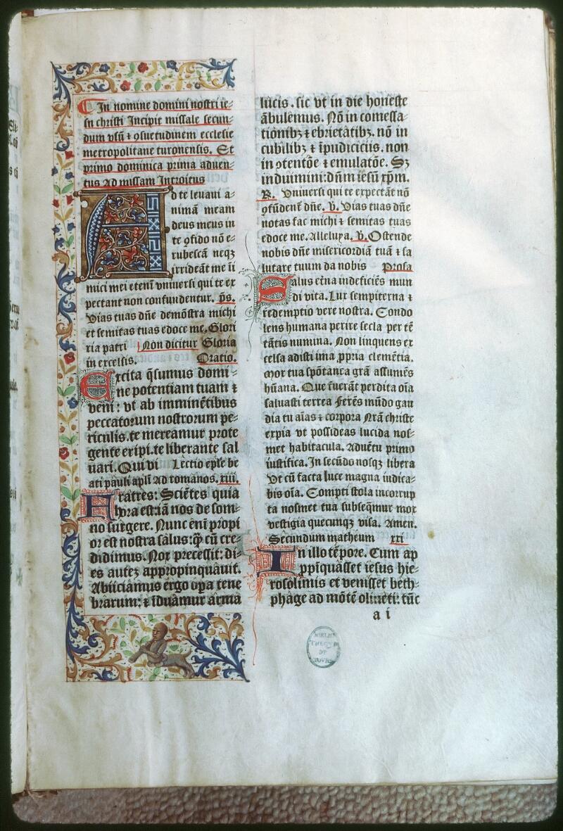 Tours, Bibl. mun., rés. 7599, f. 001