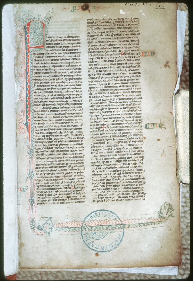 Tours, Bibl. mun., ms. 0006, f. 001 - vue 1