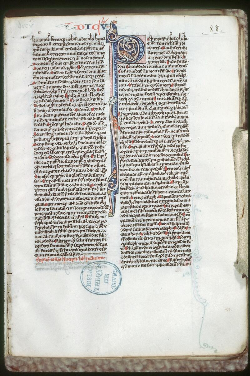 Tours, Bibl. mun., ms. 0007, f. 088 - vue 1