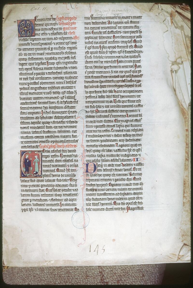 Tours, Bibl. mun., ms. 0011, f. 001 - vue 1