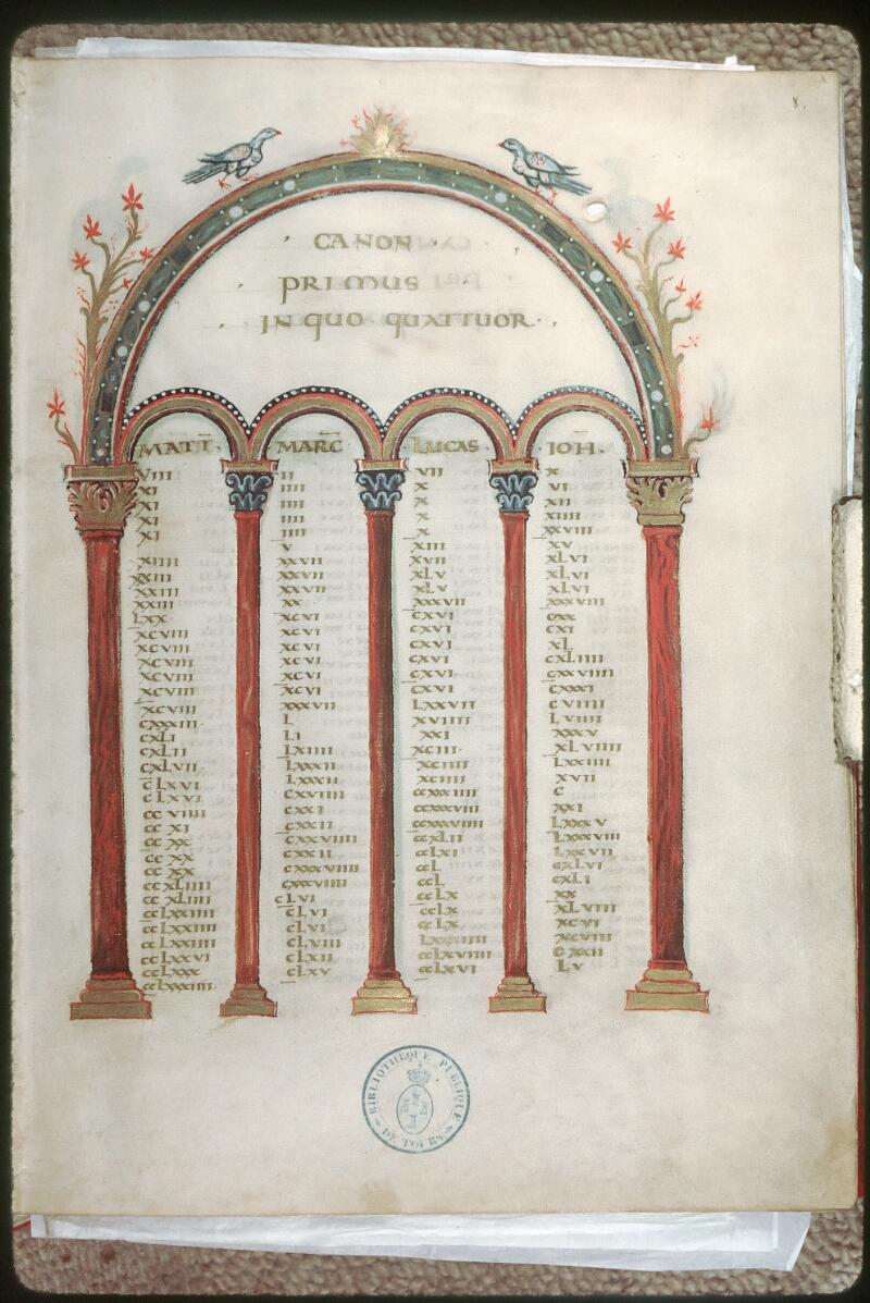 Tours, Bibl. mun., ms. 0022, f. 008 - vue 1