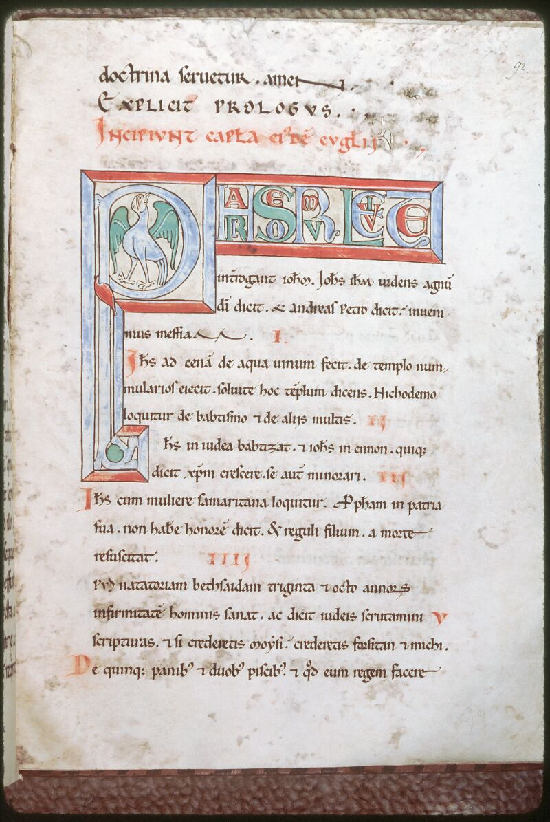 Tours, Bibl. mun., ms. 0025, f. 092 - vue 1
