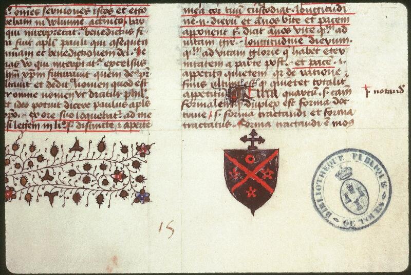 Tours, Bibl. mun., ms. 0062, f. 002 - vue 2