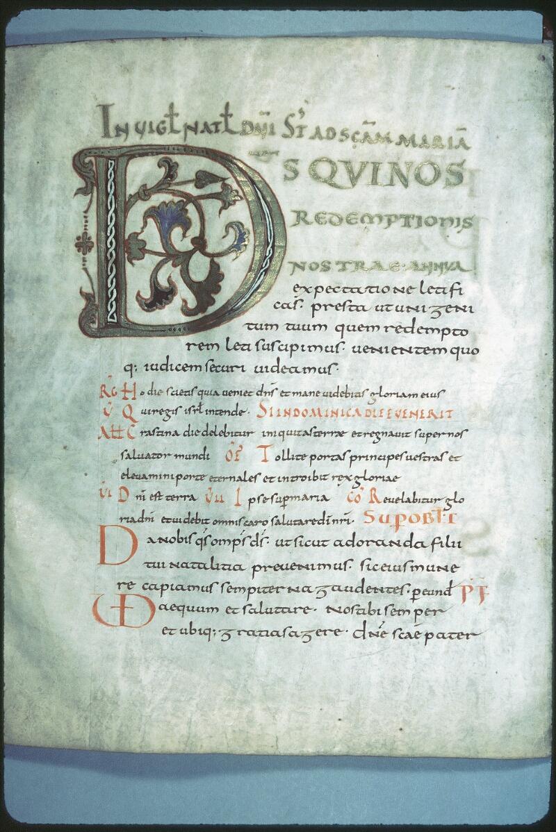 Tours, Bibl. mun., ms. 0184, f. 006v - vue 1