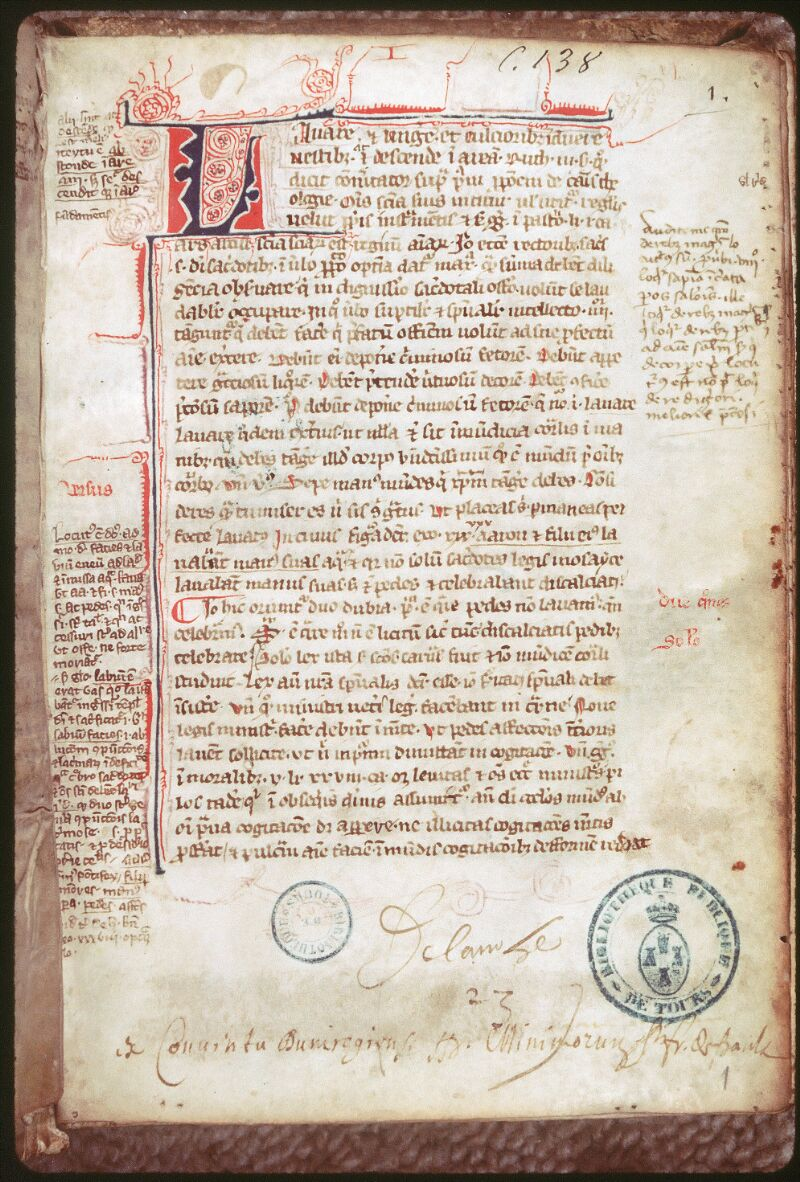 Tours, Bibl. mun., ms. 0138, f. 001