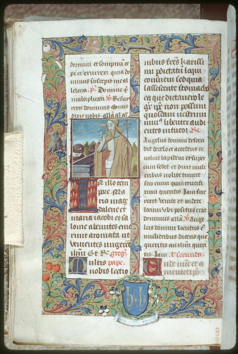 Tours, Bibl. mun., ms. 0147, f. 142v - vue 1