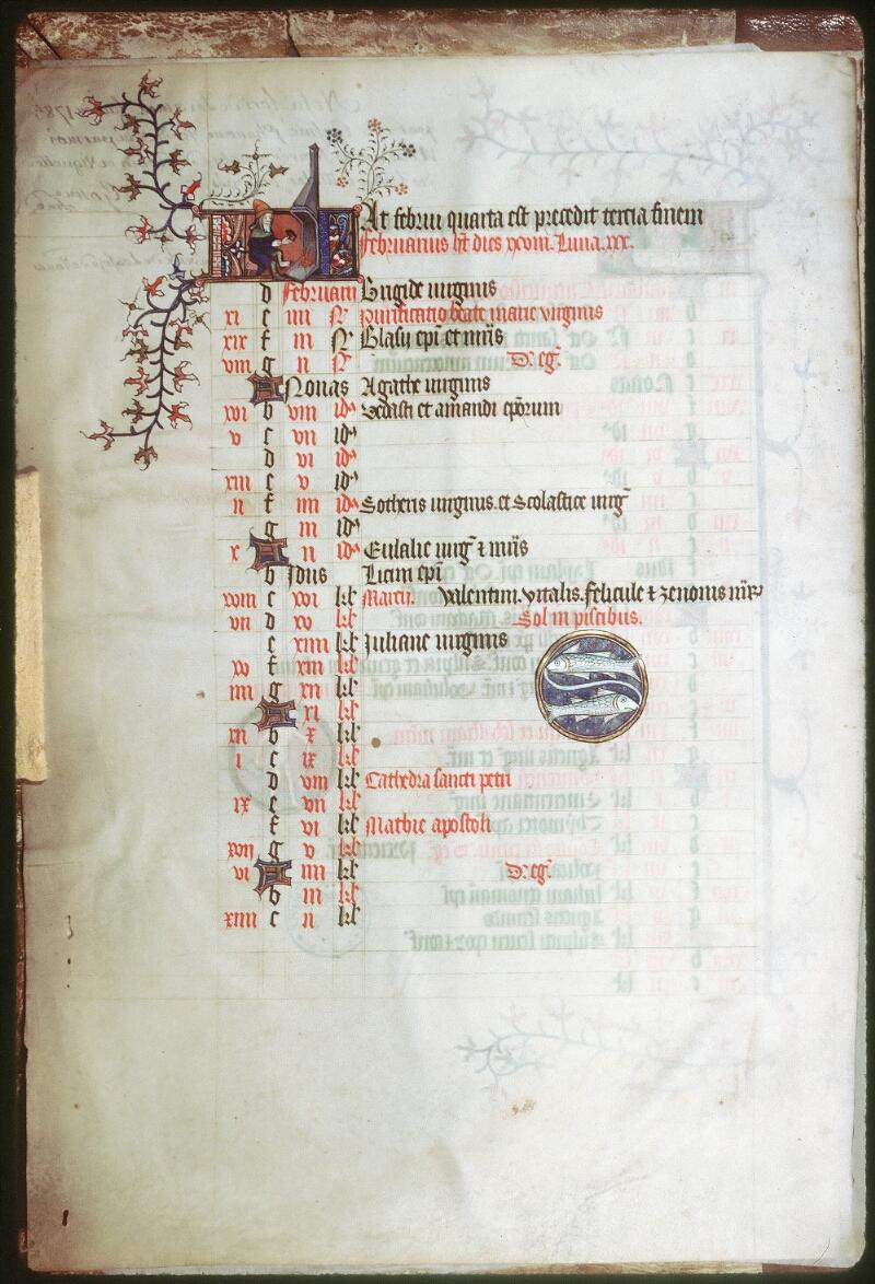 Tours, Bibl. mun., ms. 0185, f. 001v - vue 1