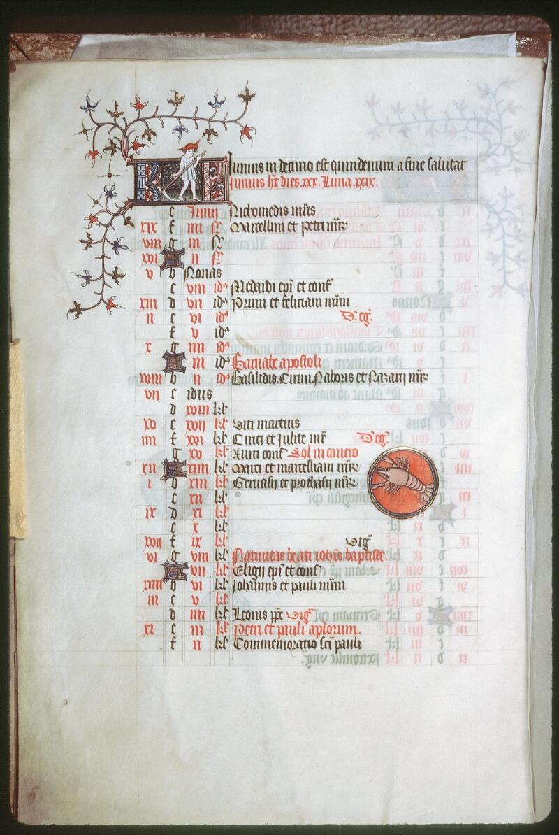 Tours, Bibl. mun., ms. 0185, f. 003v - vue 1