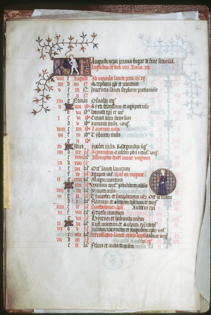 Tours, Bibl. mun., ms. 0185, f. 004v - vue 1